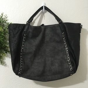 3 for $25 Urban Expressions Black/Gray Large Tote